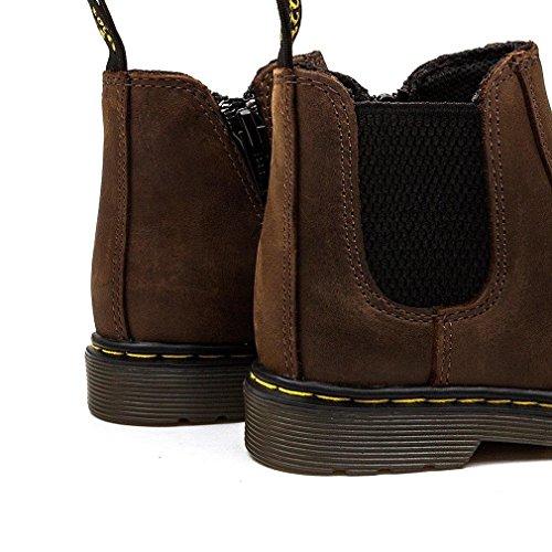 Dr Martens Banzai Junior Dark Brown Leather Chelsea Boots Dark Brown