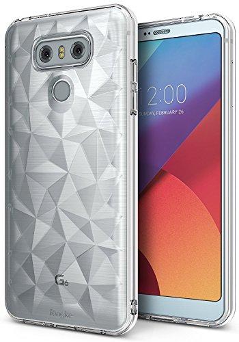 Ringke LG G6 / G6 Plus Schutzhülle AIR Prism 3D Design, Ultra chic dünn schlang Geometrisches Muster Flexible Kompletthülle texturiert schützend TPU Fall geschützt Cover - Kristallklar