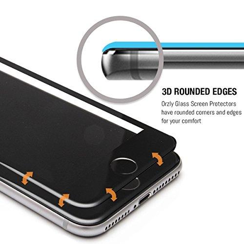 iPhone 7 Plus Schutzfolie [Vollglas], Orzly® 3D Pro-Fit – Panzerglas / Tempered Glasfolie / Displayschutzfolie - [Volldisplayabdeckung] für das iPhone 7 Plus - [3D abgerundeten Kanten für die übergang TRANSPARENT mit SCHWARZ Rahmen für iPhone 7 PLUS