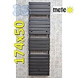 Scaldasalviette termoarredo METEO 174x50 cm antracite sabbiato - Interasse 45cm
