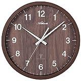 Atlanta Uhren 4438/20 Funk Wanduhr 300mm Nussbaum
