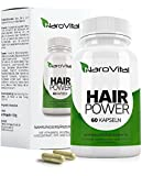 NaroVital Hair-Power - 2400 mcg Biotin, Zink, Selen, Hirse, OPC & Mehr! - Vegan - Hochdosiert - 60 Kapseln - Haar-Vitamine - Wertvolle Nährstoffe für Haare, Haut und Nägel