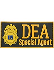 US DEA Special Agent Federal Drug Enforcement FBI Marshal Dept Justice PVC Gomme Touch Fastener Écusson Patch