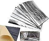 Scudo termico 6x tappetino auto scarico marmitta isolamento FR Hood in fibra di vetro, 50x 30cm
