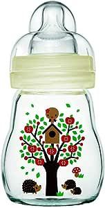 MAM Glass Bottle 170ml Silk Teat 0 Months +