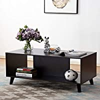 soges Contemporary TV Stand Storage Cabinet, Espresso HHCT001-CF