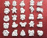 25 Duftkreide für Weihnachten, handgefertigt (verschiedene Modelle) Herz Tischkarten Bomboniere, verschließbar, geknüpft, Weihnachten, Geschenkidee