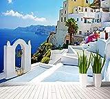 Yirenfeng Benutzerdefinierte 3D Foto Tapeten Mediterrane Große Wandbild Tv Tapete Für Wohnzimmer Schlafzimmer Restaurant Wandbild Wandbild400X250CM