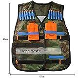 Yosoo® Gilet Tattico Camuffamento + 2 Clip + 10 Dardi Elite per i Bambini di Nerf N-Strike Elite immagine