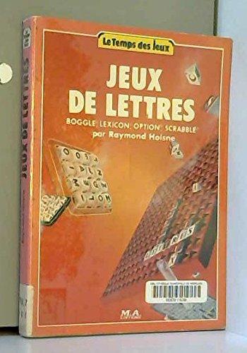 Jeux de lettres - Boggle, Lexicon, Option, Scrabble