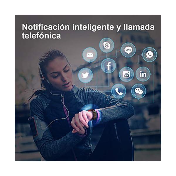 YANGOO Pulsera Actividad Inteligente Impermeable IP68 Pulsera Inteligente Pantalla Color HR con Correa Reemplazable… 5