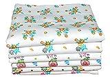 APR Brand White Flower Print Bath Towels...