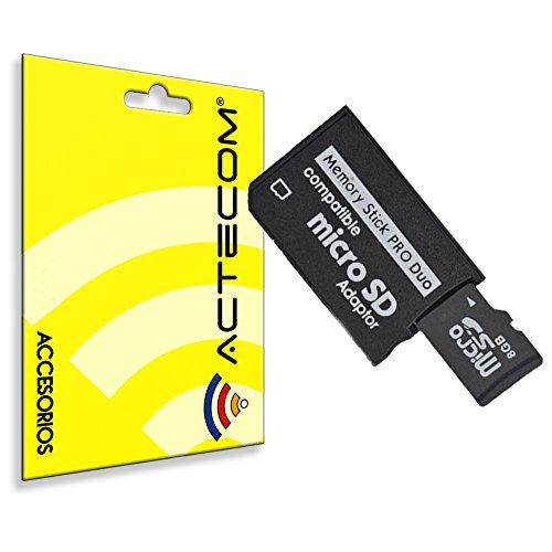 ACTECOM® ADAPTADOR TARJETA MICRO SD/ MICROSD A PSP