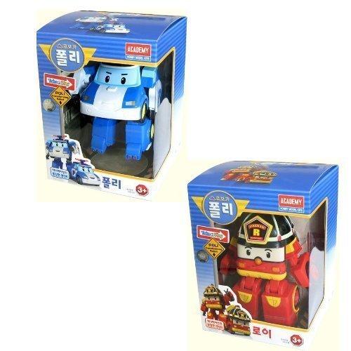 Poli Robot (Robocar Poli + Robocar Roy (2 Transformable Robot toys))