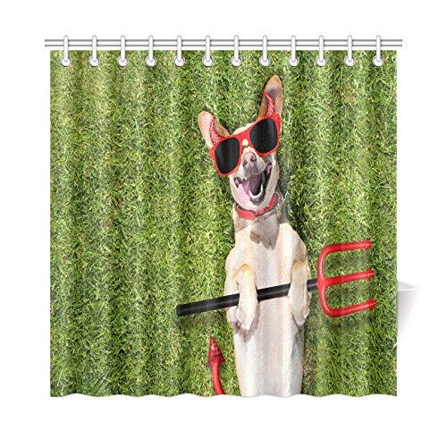 (JOCHUAN Home Decor Bad Vorhang Chihuahua Hund Geist Halloween Scary Spooky Polyester Stoff Wasserdicht Duschvorhang Für Badezimmer, 72 X 72 Zoll Duschvorhänge Haken Enthalten)