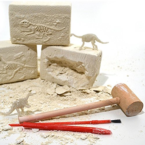 Image of Dinosaur Fossils Digging Excavation Kit Dig Your Own Skeleton Glow In The Dark