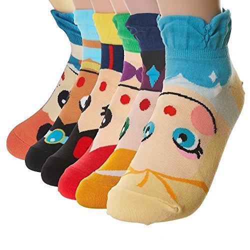 Ambielly cotone calzini termici dei calzini adulti Unisex Calze (6 coppie Sirena)