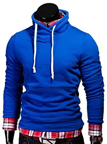 MT Styles Pullover Hoher Kragen Hoodie S-133 Blau