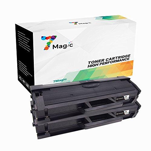 7Magic Compatibles Samsung MLT-D101S la Laser Cartouche de Toners (2 Noir) Replacement pour Samsung SCX-3400 SCX-3405 SCX-3405W SCX-3405FW ML-2160 ML-2165 ML-2165W ML-2160 ML-2164 SF-760P Imprimantes