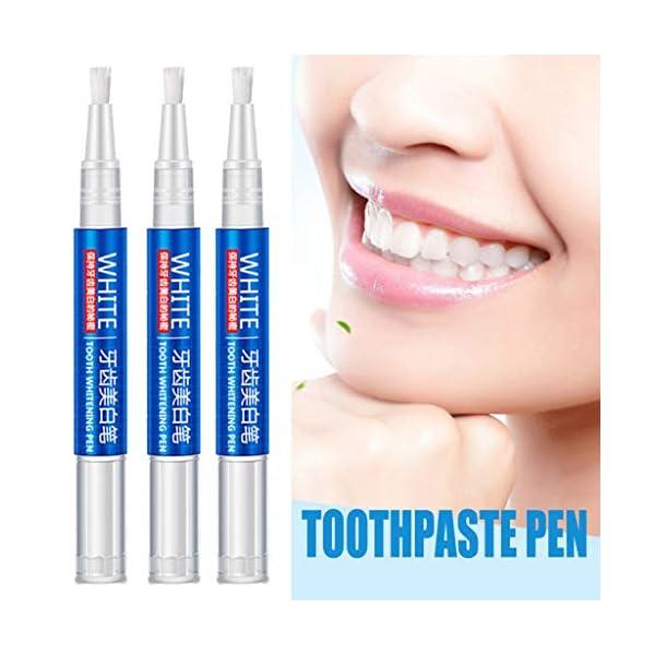 Bolígrafo de gel blanqueador de dientes YA-Uzeun de secado rápido, tinta amarilla para blanqueamiento de dientes…
