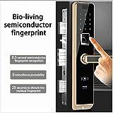 Jackeylove Fingerprint Porta Serratura con Bluetooth biometrico Intelligente Serrature Keyless Serrature elettroniche per Home Entry di ZKTeco (Lega di Zinco) Porta di Ricarica USB di Emergenza