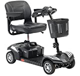 Drive DeVilbiss 4 Wheel Travel Mobility Scooter – Compact Medical Electric Scooters for Adult (Black)