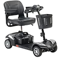 Drive DeVilbiss Explorer Scooter 4 Wheel Drive – Drive Medical Electric Scooter – Compact Travel Power Scooter – Mobility Scooter for Adults