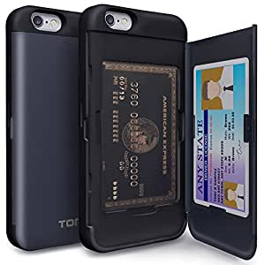 iPhone 6 Case, TORU [Shockproof] iPhone 6 Credit Card Case [CX Pro] [Blue] Protective Hybrid Kickstand Case with...