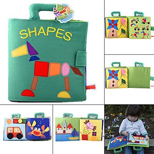 lzndeal-Babytuch-Buch-leuchtende Farbe formt das Lernen des frühen Bildungsbuches für Kind