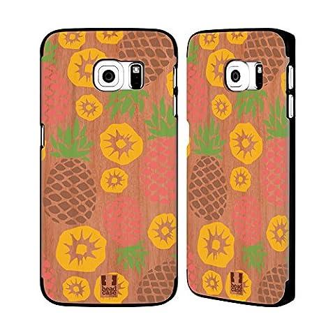 Head Case Designs Ananas Medley Hawaiianisch Hülle Mit Rückseite Aus Rosenholz Für Samsung Galaxy S6 (Hawaiianische Ananas)