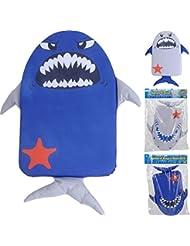 Los niños de tiburón tabla de natación float aprendizaje ayuda, azul