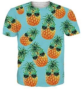 Spreadhoodie Hombres Camiseta 3D Piña