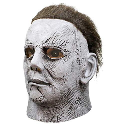 TULADUO Neue 3D-Masken-Kopfmaske Für Halloween-Retourenmaske Michael Myers Scary Horror Latexmaske Halloween-Maske