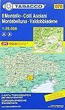 Tabacco Wandern 1 : 25 000 Il Montello -Colli Asolani Montebelluna-Valdobbiadene [Lingua inglese]