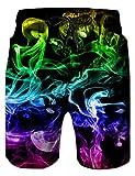 NEWISTAR Herren Shorts 3D Druck Kurze Hose Badehose Freizeithose Jogginghose Sporthose Trainingshose Jogger Sweatpants XL