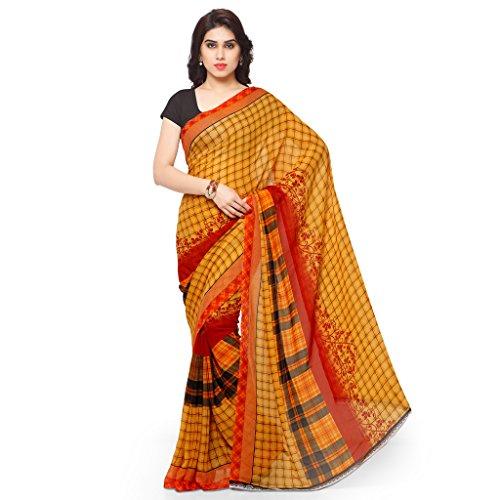 Kashvi Sarees Bhagalpuri Silk Pink & Multi Color Printed Saree With Blouse Piece ( SSC060_3 )  available at amazon for Rs.299