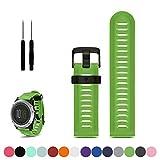 Correa de repuesto para reloj deportivo Garmin Fenix 3/3HR GPS de iFeeker, accesorio suave de gel de silicona, color verde
