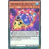 YuGiOh : BOSH-EN005 1st Ed Performapal Bit Bite Turtle Common Card - ( Breakers of Shadow )