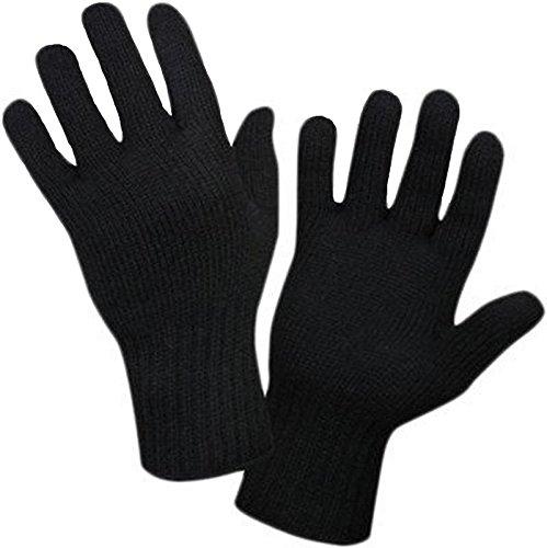 Whyme Fashion Unisex Natural Wollen Winter Black Gloves