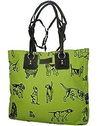 Spice Art Canvas Parrot Green Handbag