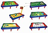Team Power - Table de jeu - Multijeux: 6 jeux en 1 - Baby-foot, Billard, Hockey de...
