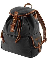 Preisvergleich für Vintage Style Rucksack Canvas Backback 18 Liter mit Veri ® Logo