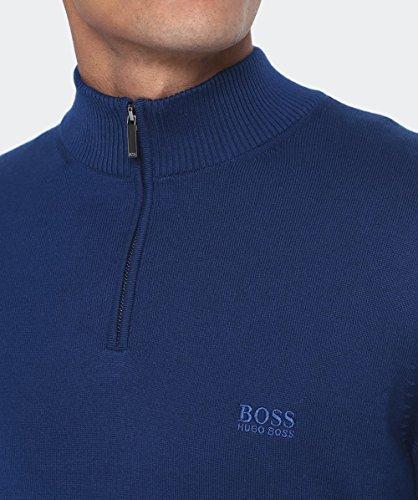 BOSS Hugo Boss Hommes Half-Zip Igor Jumper Turquoise Turquoise