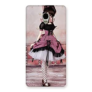 Special Cute Dancing Girl Multicolor Back Case Cover for Lenovo Vibe P1