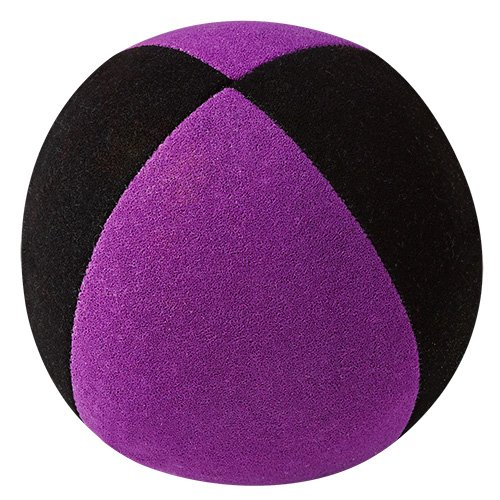 Jonglierball: HENRYS Beanbag Superior (Velours) 67mm, schwarz-lila
