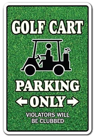 GOLF CART Parking Sign gag novelty gift funny golfer lover
