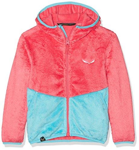 Salewa Kinder Puez Furry Polarlite Full-Zip Hoody Hoodie, Paradise Pink/3390, 40 (Full Zip Hoody Fleece)