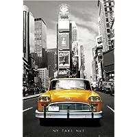 Empire 82343 - Póster de Nueva York con taxi (91,5 x 61 cm), color blanco, negro y amarillo