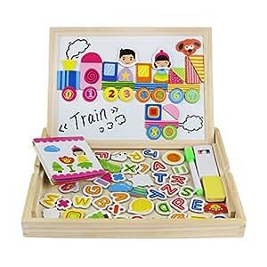 magnetisches holzpuzzle doppelseitige holzspielzeug alphabet puzzle anzahl lernspielzeug. Black Bedroom Furniture Sets. Home Design Ideas