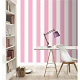 Rasch vertikalen Streifen Muster Tapete Modern texturiert gestreift Design - 286908 rosa weiß